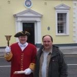 Cecil Wilson Town Crier with Justin from Carrickfergus 107.6 FM